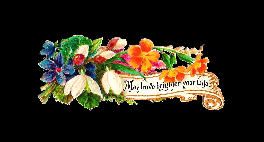 Antique Images: Free Flower Clip Art: Victorian Scrap of ...