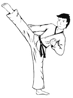 Coloring Page For Sports Kids: Boxing, Judo And Karate