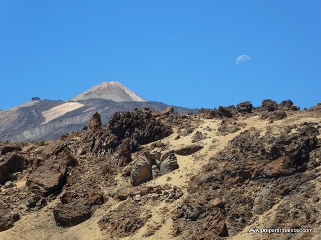 contraste en el P.N del Teide
