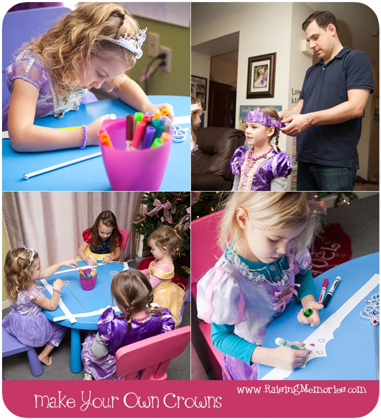 DIY Princess Party Hats at www.RaisingMemories.com