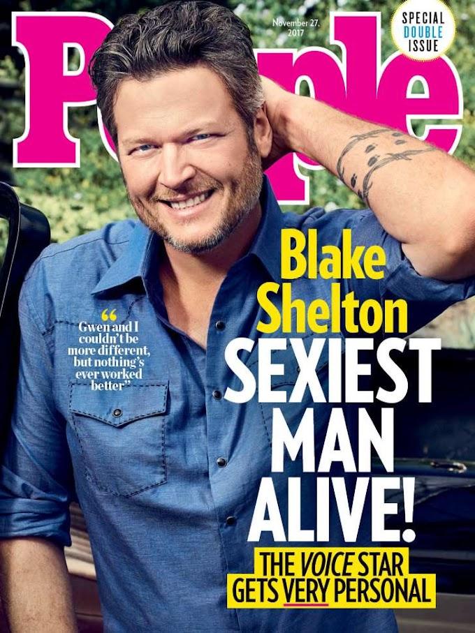 Blake Shelton named 2017 sexiest man alive!