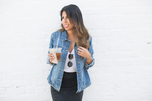 how to wear denim jacket, casual weekend outfit, venice california