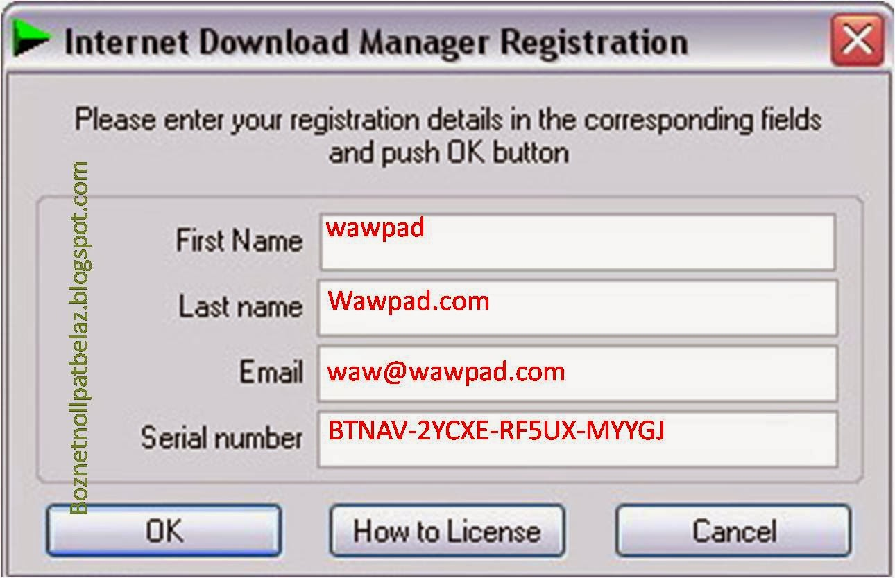 Internet download manager registration key free youtube.
