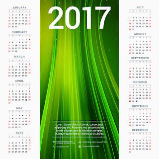 2017カレンダー無料テンプレート110