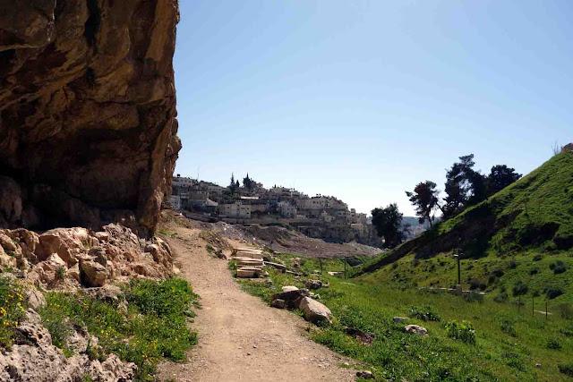 La vallée du Cédron ou Kidron  à Jérusalem