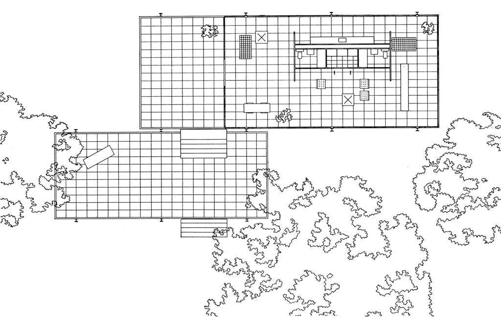 canoe design farnsworth house. Black Bedroom Furniture Sets. Home Design Ideas