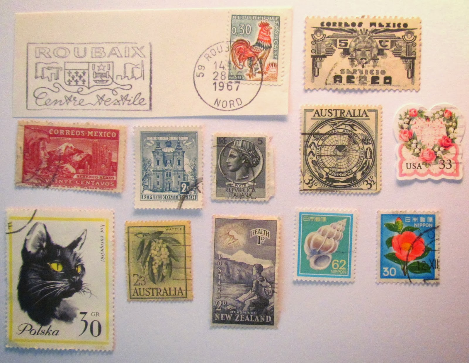used postage stamp craft ideas