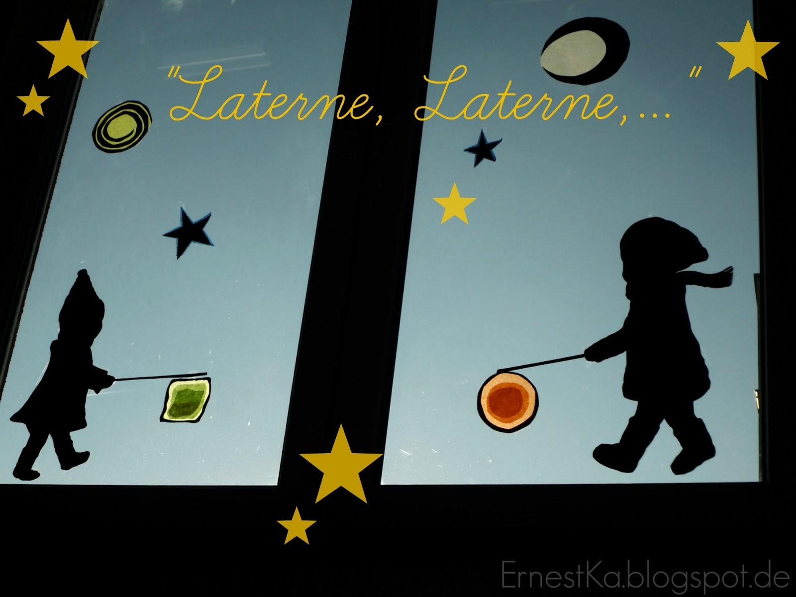 """ErnestKa: """"Laterne. Laterne,...""""- DIY Fensterbild Zum"""