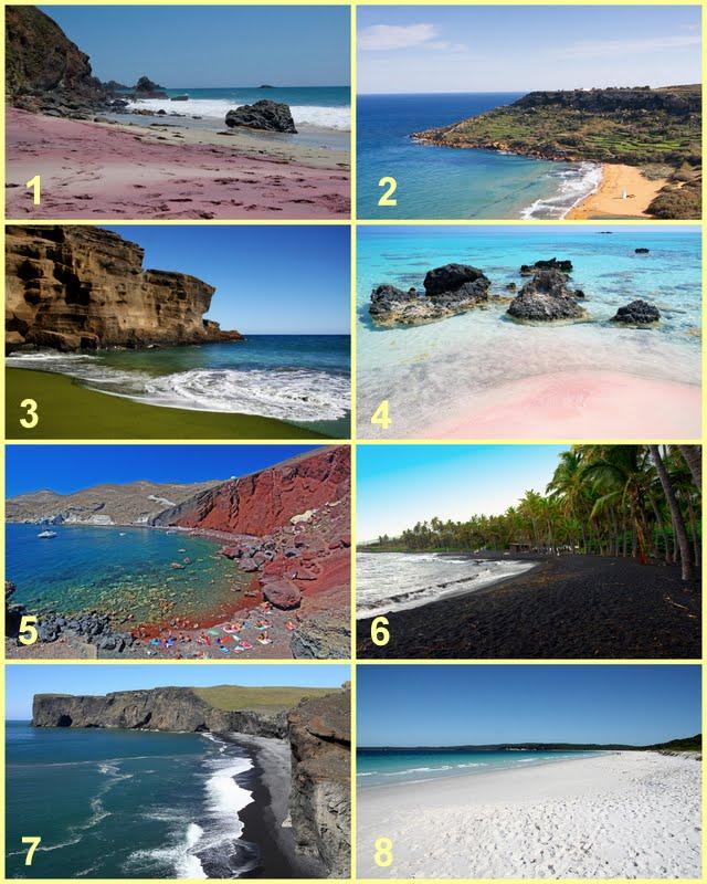 разноцветный песок пляжей мира