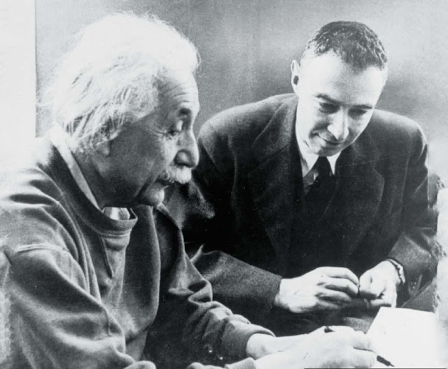 Oppenheimer with Albert Einstein