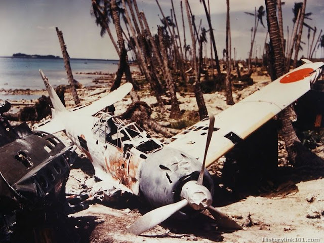 Crashed Japanese Zero fighter Planes in color worldwartwo.filminspector.com