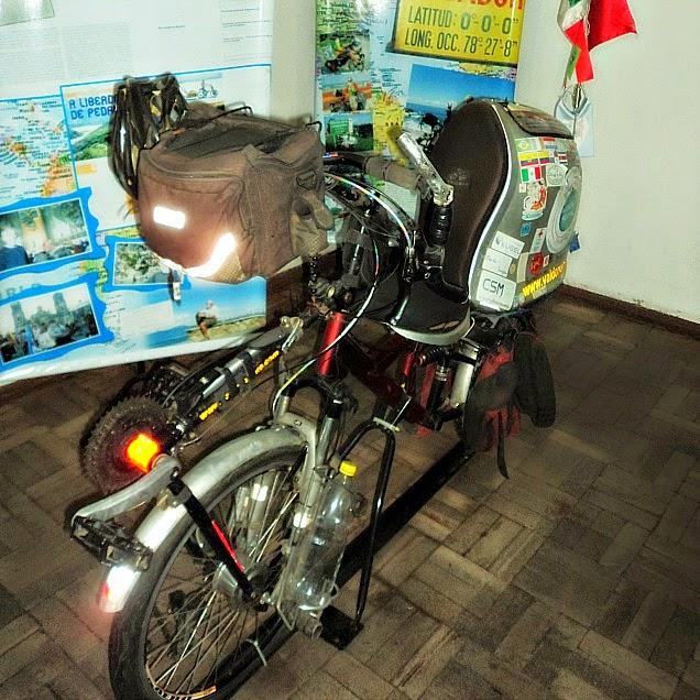Bicicleta de Valdecir João Vieira, o Valdo, no Museu da Bicicleta de Joinville