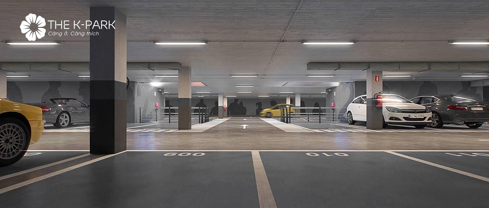 Hầm để xe tại chung cư The K Park