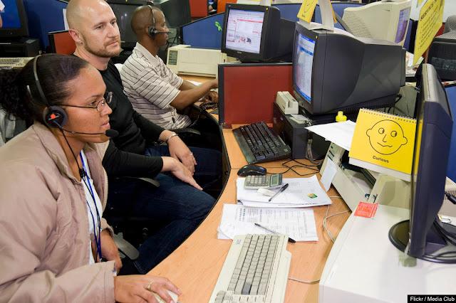 Centro de teleoperadores de ABSA Bank en Johannesburgo