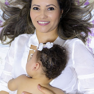 Elaine, mãe da Luíza