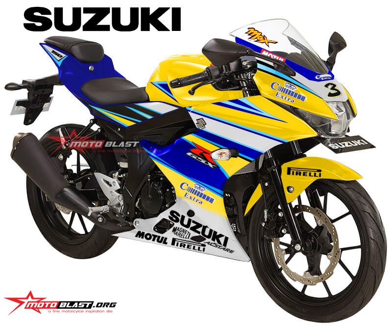 Keren Ini 19 Gambar Modifikasi Warna Suzuki Gsx R150 Otoproid