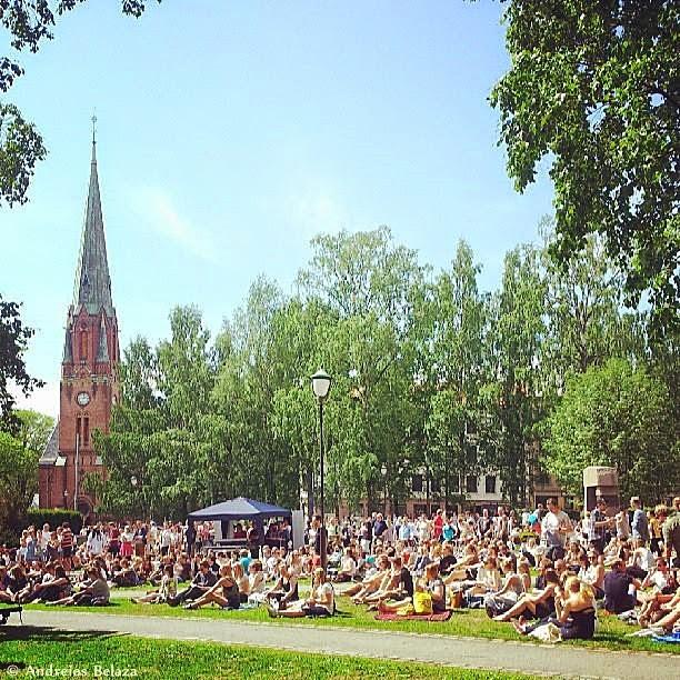 Birkelunden park in Grunerlokka, Oslo