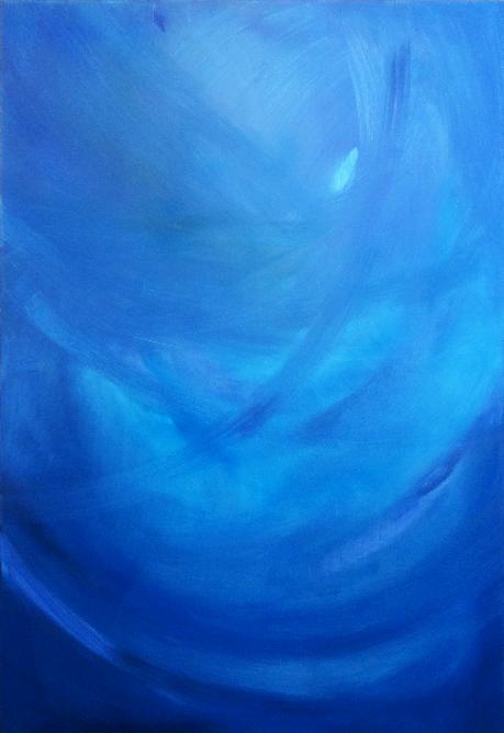magda raczko przestrzenie błękitu obrazy