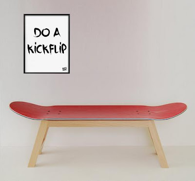 Skateboard Seat and Illustration