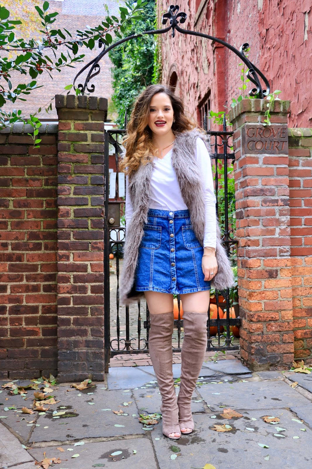 Nyc fashion blogger Kathleen Harper showing how to wear thigh-high boots
