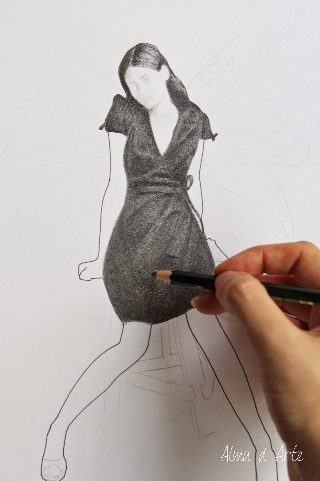 Dibujo a lápiz de grafito