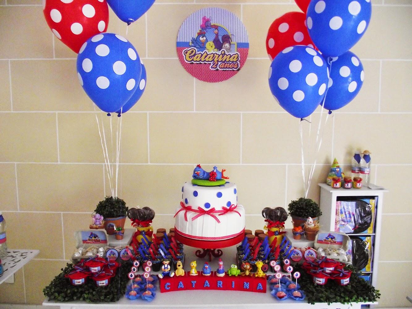 Decoraç u00e3o Galinha Pintadinha Simples E Barata -> Decoração Festa Infantil Galinha Pintadinha Simples