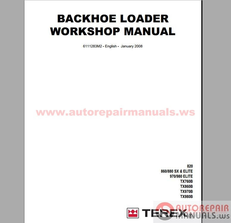 Free Auto Repair Manual : Terex All Set Service Manual