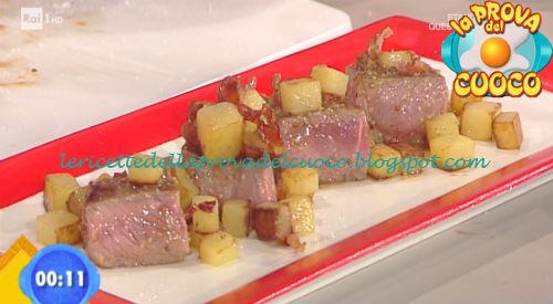 Cubotti di Entrecote alla mostarda ricetta Parizzi da Prova del Cuoco