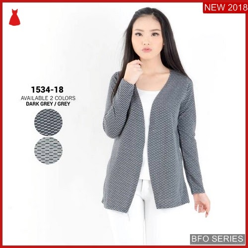 BFO184B40 BAJU Model CARDIGAN BLOUSE Jaman Now ATASAN BMGShop