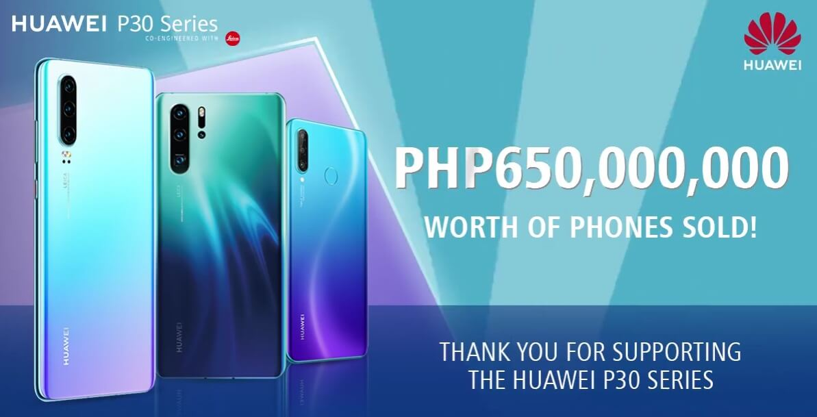 Huawei Philippines Sold 65M Pesos Worth of P30 Phones