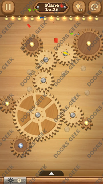 Fix it: Gear Puzzle [Plane] Level 24 Solution, Cheats, Walkthrough for Android, iPhone, iPad and iPod