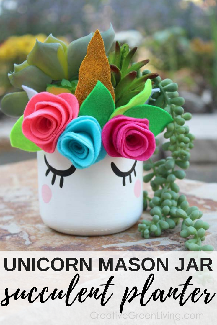 How to turn an empty mason jar into an adorable unicorn craft