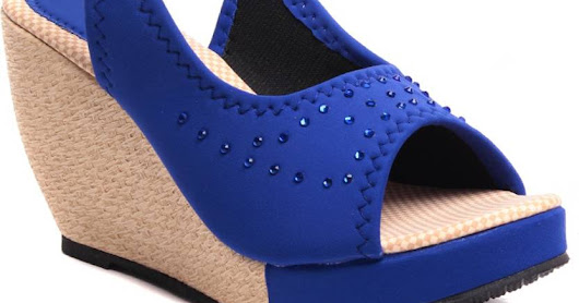 Ruby Women Blue Wedges Online | Wedges for Women | Wedge Shoes for Women | Shopping Zaroori