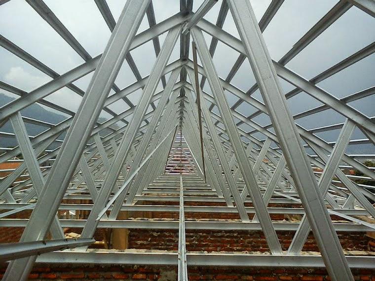 pasang baja ringan di semarang 081223355359 harga grosir rangka atap murah