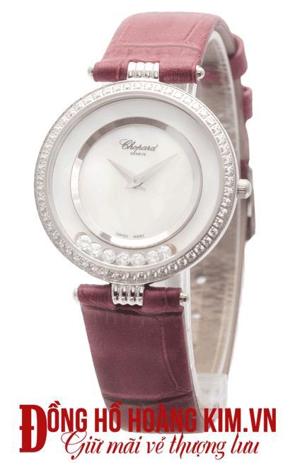 đồng hồ chopard nữ dây da hàng hiệu