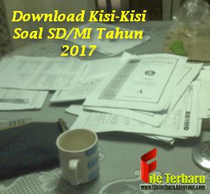Download Kisi-Kisi Soal SD/MI Tahun 2017