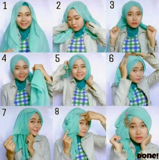 Contoh hijab segi empat