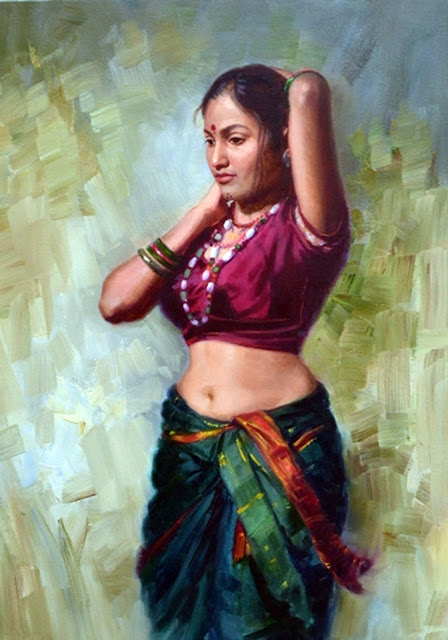 Vintage Paintings of Beautiful Woman's 35