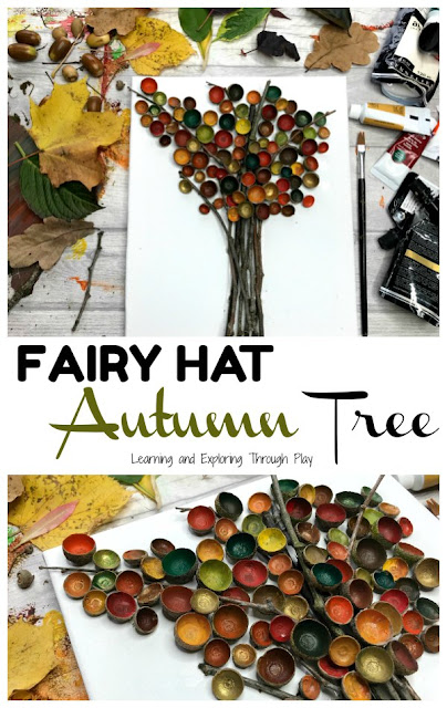 Fairy Hat Autumn Tree Craft. Forest School. Nature Crafts for Kids.