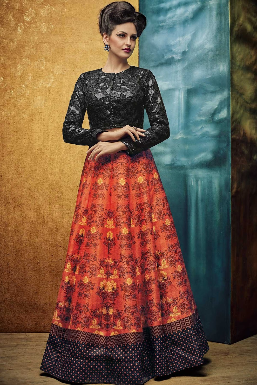 Vrunda – New Collection Digital Printed Lehenga Choli Buy Online