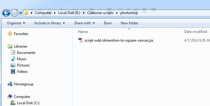 Photoshop Script for re-size odd dimension to square canvas