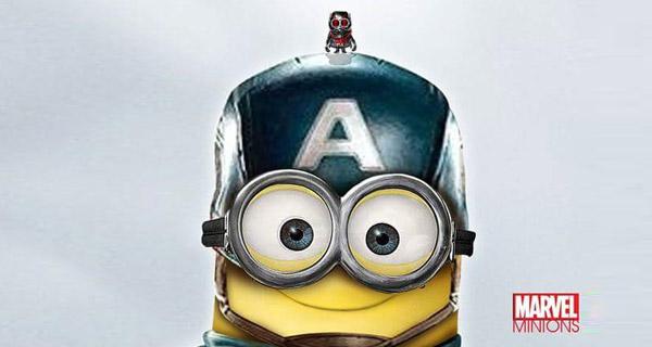 Ant-Man y el Capitán América en formato Minion