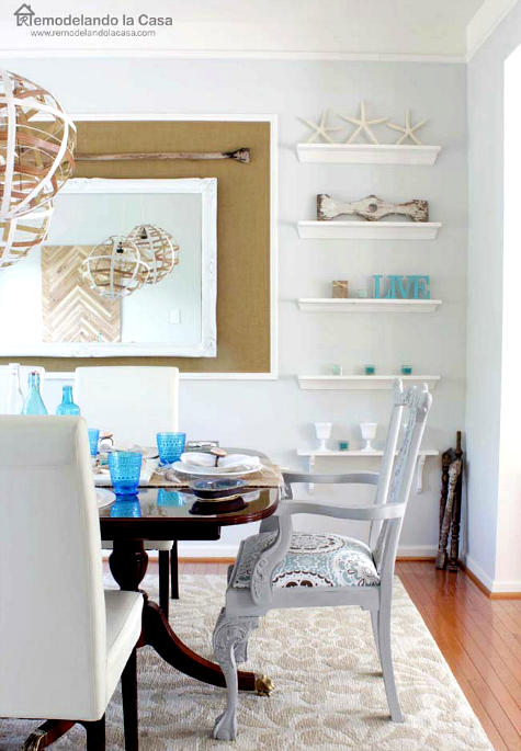 Coastal Summer Home With Diy Driftwood Crab Rope And