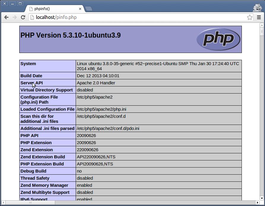 gedit ubuntu php installer