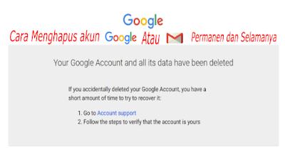 cara hapus gmail