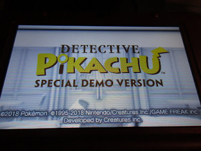 Detective Pikachu Special Demo Version title screen Pokémon Nintendo 3DS