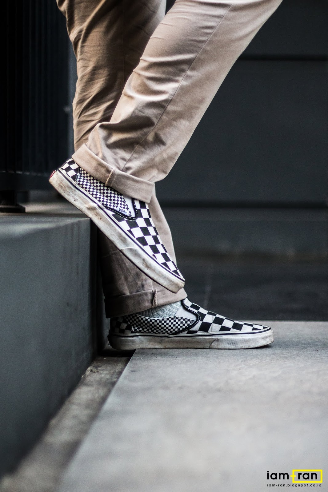 e83057aa5fad13 Arfan Okky on feet   Sneakers   Vans Classic Slip on Mix Checkerboard Photo  by   iam.ran06
