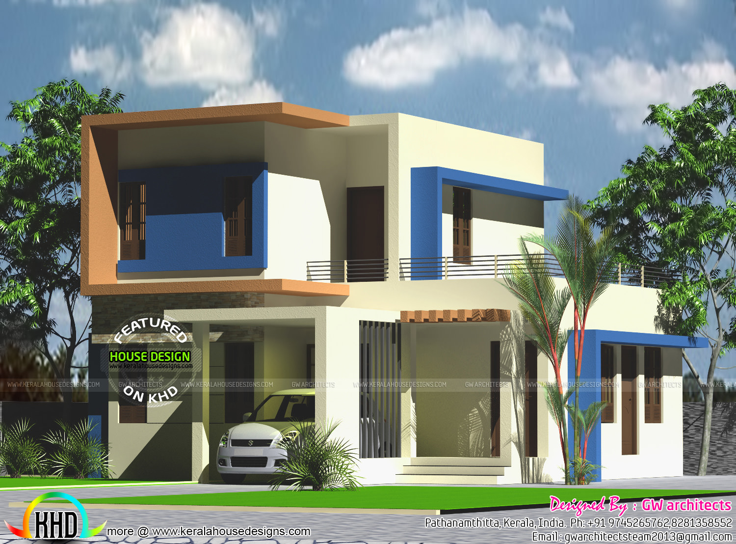 1500 sq ft 4 bedroom double floor home kerala home for 1500 sq ft modern house