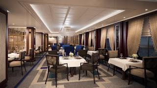 Britannia Club Dining Room Queen Victoria Cunard Line Refit