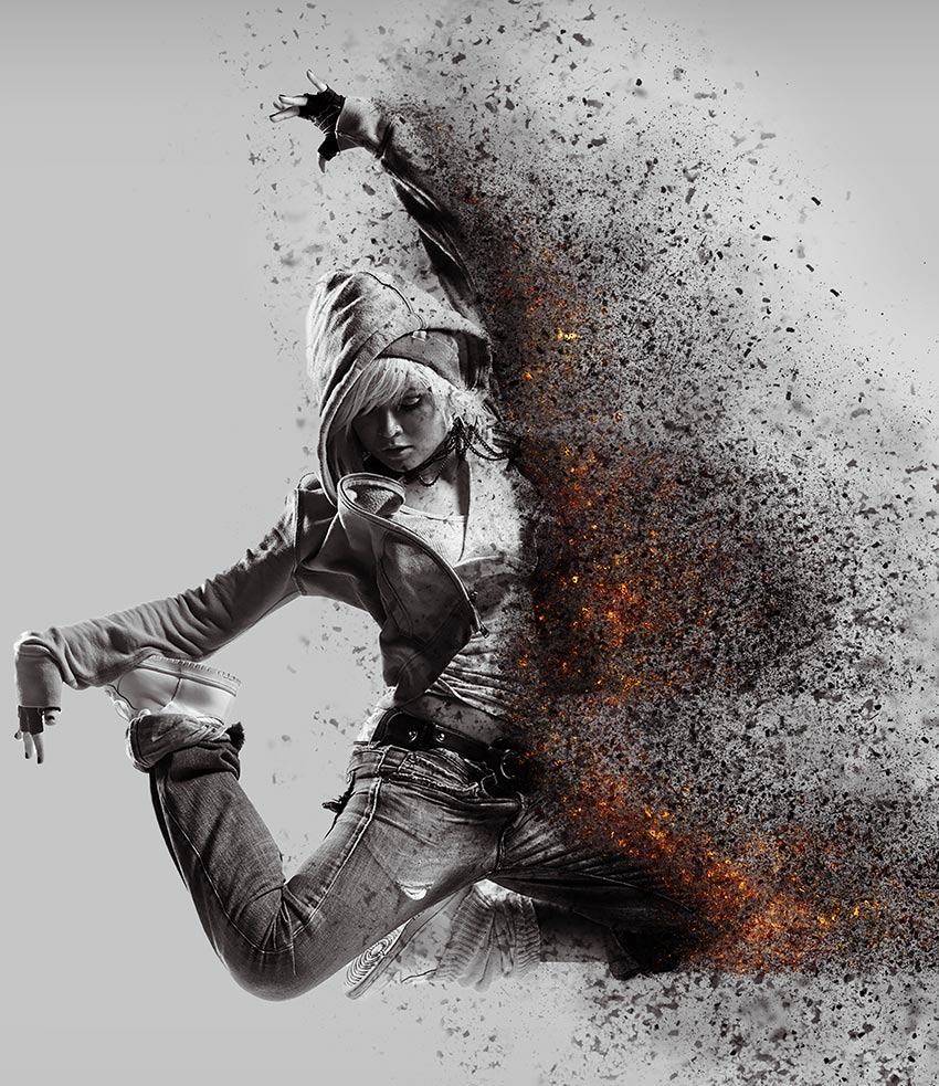 Ashes & Embers Dispersion Action Photo Manipulation by Tutsplus